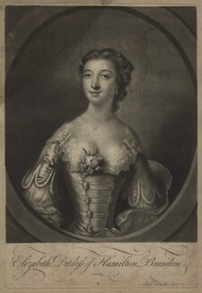 Elizabeth (née Gunning), Baroness Hamilton of Hameldon, by Richard Houston, after  Francis Cotes - NPG D7111