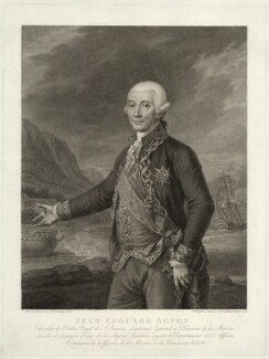 Sir John Francis Edward Acton, 6th Bt, by Francesco Bartolozzi, after  Carlo Marsigli - NPG D7112