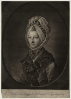 Elizabeth (née Gunning), Baroness Hamilton of Hameldon, by Robert Lawrie (Lowry), published by  Robert Sayer, after  Katharine Read, published 25 February 1771 - NPG D7118 - © National Portrait Gallery, London