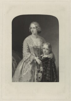 Elizabeth, Duchess of Argyll with her son, by William Henry Mote, after  William Salter Herrick, published 1885 - NPG D7121 - © National Portrait Gallery, London