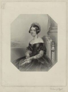 Anne Campbell (née Colquhoun), Duchess of Argyll, by W. Joseph Edwards, after  John Hayter, published 1840s - NPG D7122 - © National Portrait Gallery, London
