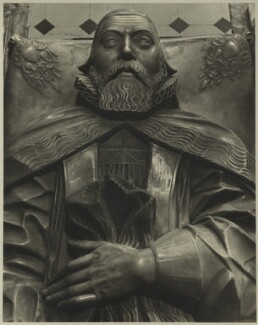 George Abbot as effigy at Guildford Church, after Unknown sculptor, (1635) - NPG D7129 - © National Portrait Gallery, London