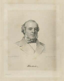 Henry Austin Bruce, 1st Baron Aberdare, by Charles Holl, after  Henry Tanworth Wells, 1868 or after - NPG D7133 - © National Portrait Gallery, London
