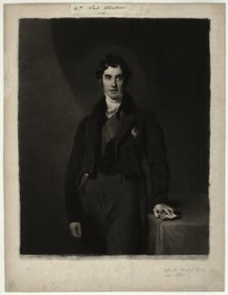 George Hamilton Gordon, 4th Earl of Aberdeen, by Samuel Cousins, after  Sir Thomas Lawrence - NPG D7135