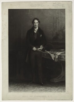 George Hamilton Gordon, 4th Earl of Aberdeen, by Skelton and Hopwood, published by  Longmans & Co, published by  Goupil & Vibert - NPG D7136