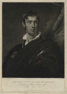 George Hamilton Gordon, 4th Earl of Aberdeen, by Charles Turner, after  Sir Thomas Lawrence - NPG D7137