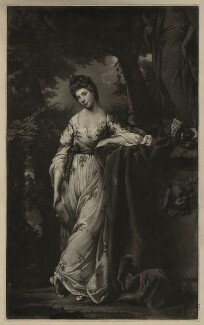 Frances Abington (née Barton) as Thalia, by James Watson, after  Sir Joshua Reynolds - NPG D7153