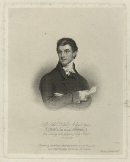 Sir Thomas Dyke Acland, 10th Bt, by Robert Cooper, after  William Owen - NPG D7155
