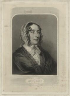 Lydia Elizabeth (née Hoare), Lady Acland, by Samuel Cousins, after  Joseph Severn - NPG D7161
