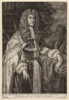 Robert Bruce, 1st Earl of Ailesbury and 2nd Earl of Elgin, by John Smith, after  Sir Peter Lely, 1687 - NPG D7181 - © National Portrait Gallery, London