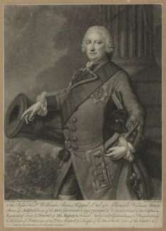 William Anne Keppel, 2nd Earl of Albemarle, by and sold by John Faber Jr, after  J. Fournier - NPG D7195