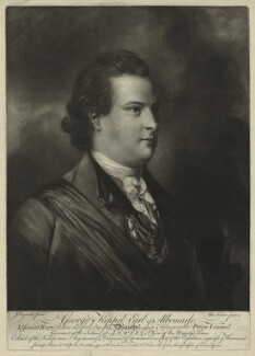 George Keppel, 3rd Earl of Albemarle, by Edward Fisher, after  Sir Joshua Reynolds - NPG D7197