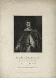 George Monck, 1st Duke of Albemarle, by William Thomas Fry, after  Sir Peter Lely - NPG D7198