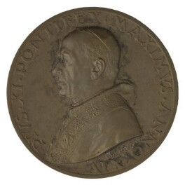 Pope Pius XI (Ambrogio Damiano Achille Ratti) (on obverse); Sir Thomas More; John Fisher, by Aurelio Mistruzzi - NPG D7201
