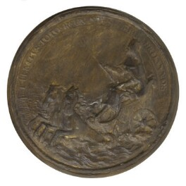 Seal of Barbados showing King Charles II as Neptune, after Thomas Simon - NPG D7215