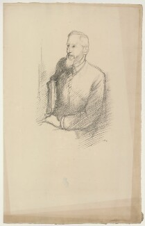 (Charles) Grant Blairfindie Allen, by Sir William Rothenstein, 1897 - NPG D7302 - © National Portrait Gallery, London
