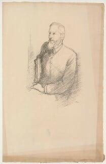 (Charles) Grant Blairfindie Allen, by Sir William Rothenstein, 1897 - NPG D7302 - © National Portrait Gallery, London