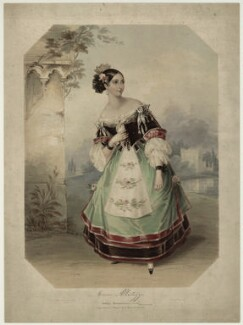Emma Albertazzi (née Howson) as Zerlina in 'Don Giovanni', by Marie Françoise Catherine Doetter ('Fanny') Corbaux - NPG D7305