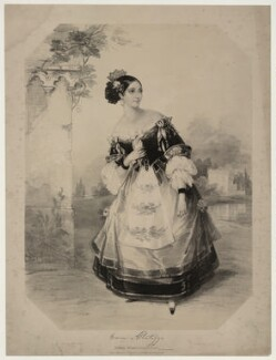 Emma Albertazzi (née Howson) as Zerlina in 'Don Giovanni', by Marie Françoise Catherine Doetter ('Fanny') Corbaux - NPG D7306