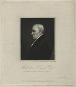 Robert Alderson, by Robert Cooper, printed by  McQueen (Macqueen), published by  William Freeman, after  John Thomas Woodhouse - NPG D7314