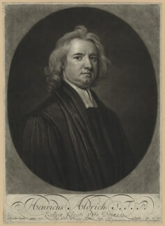 Henry Aldrich, by John Smith, after  Sir Godfrey Kneller, Bt - NPG D7315