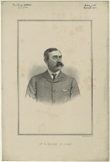 G. Mander Allender, by Unknown artist, published 1887 - NPG D7335 - © National Portrait Gallery, London