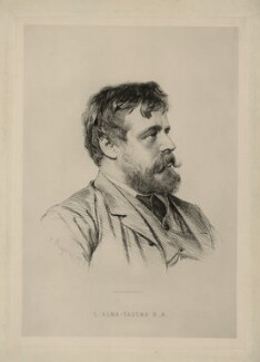 Sir Lawrence Alma-Tadema, by Paul Adolphe Rajon - NPG D7344