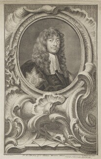 Henry Bennet, 1st Earl of Arlington, by Jacobus Houbraken, after  Sir Peter Lely - NPG D7353