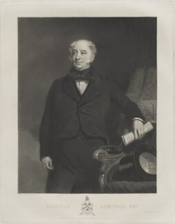 Sir Elkanah Armitage, by Samuel Bellin, published by  Philip Westcott, after  Thomas Agnew & Sons Ltd - NPG D7356