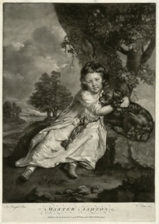 John Ashton when a child, by William Pether, after  Joseph Wright - NPG D7409