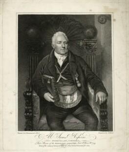 James Asperne, by Thomas Blood, after  Samuel Drummond, published 1814 - NPG D7414 - © National Portrait Gallery, London