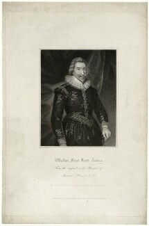 Walter Aston, 2nd Baron Aston, by R. Cooper, after  Unknown artist - NPG D7419