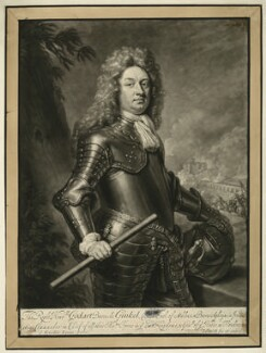 Godard van Reede-Ginckel, 1st Earl of Athlone, by John Smith, after  Sir Godfrey Kneller, Bt - NPG D7422