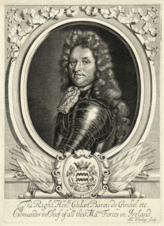 Godard van Reede-Ginckel, 1st Earl of Athlone when Baron de Ginkel, by Adriaen Haelwegh, after  Robert White - NPG D7424