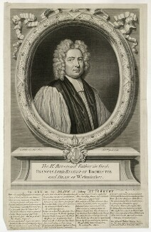 Francis Atterbury, by Michael Vandergucht, after  Sir Godfrey Kneller, Bt - NPG D7433