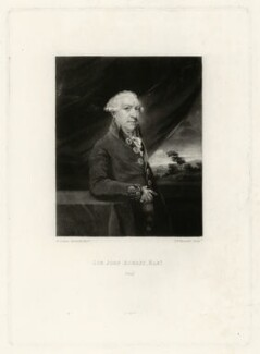 Sir John Aubrey, 6th Bt, by Samuel William Reynolds, after  Sir Joshua Reynolds, published 1788 - NPG D7438 - © National Portrait Gallery, London