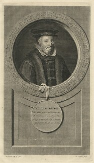 Sir Nicholas Bacon, by Pieter Stevens van Gunst, after  Adriaen van der Werff - NPG D7459