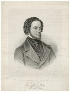 Philip James Bailey, by George B. Black, printed by  R. Mansfield & Co, after  I.D. Broadhead - NPG D7464