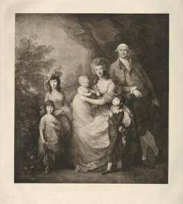 James Baillie; Colin Baillie (née Campbell) with their family, after Thomas Gainsborough, (circa 1784) - NPG  - © National Portrait Gallery, London