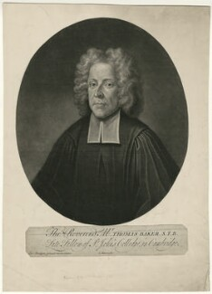 Thomas Baker, by John Simon, after  Charles Bridges - NPG D7477