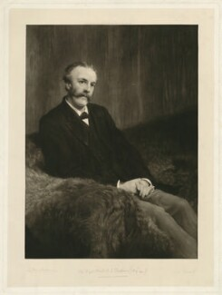 Arthur James Balfour, 1st Earl of Balfour, by Minnie Lee Everett (M. Cormack), after  Sir Lawrence Alma-Tadema - NPG D7484