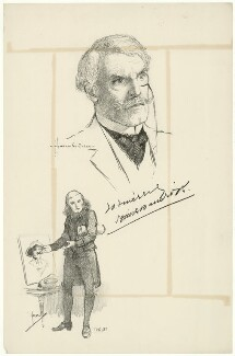 Sir Squire Bancroft Bancroft (né Butterfield), after Howard van Dusen, and after  John Hassall - NPG D7491