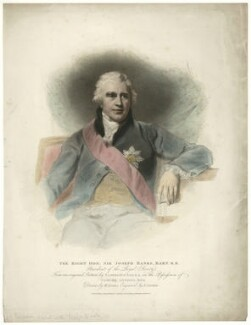 Sir Joseph Banks, Bt, by Anthony Cardon, published by  T. Cadell & W. Davies, after  William Evans, after  Sir Thomas Lawrence, published 1 January 1810 - NPG D7497 - © National Portrait Gallery, London