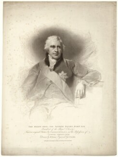 Sir Joseph Banks, Bt, by Anthony Cardon, published by  T. Cadell & W. Davies, after  William Evans, after  Sir Thomas Lawrence - NPG D7498