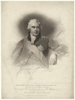 Sir Joseph Banks, Bt, by Anthony Cardon, published by  T. Cadell & W. Davies, after  William Evans, after  Sir Thomas Lawrence - NPG D7499