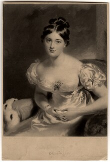 Marguerite, Countess of Blessington, by Samuel Cousins, after  Sir Thomas Lawrence - NPG D750