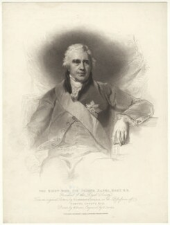 Sir Joseph Banks, Bt, by Anthony Cardon, published by  T. Cadell & W. Davies, after  William Evans, after  Sir Thomas Lawrence - NPG D7500