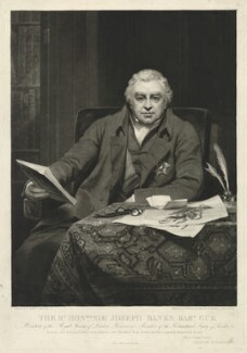 Sir Joseph Banks, Bt, by Samuel William Reynolds, and by  Samuel Cousins, after  Thomas Phillips - NPG D7502