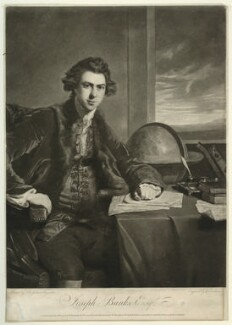 Sir Joseph Banks, Bt, by William Dickinson, after  Sir Joshua Reynolds, published 1774 - NPG D7504 - © National Portrait Gallery, London