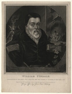 William Tyndale, by William Dennis Jr, after  Unknown artist, early 19th century - NPG D7519 - © National Portrait Gallery, London
